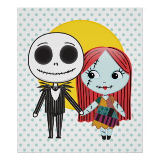 Nightmare Before Christmas | Jack & Sally Emoji 3 Poster