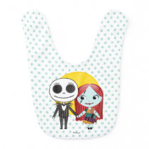 Nightmare Before Christmas | Jack & Sally Emoji Baby Bib