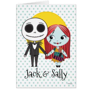 Nightmare Before Christmas | Jack & Sally Emoji Card