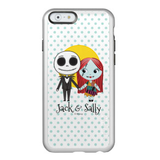 Nightmare Before Christmas | Jack & Sally Emoji Incipio Feather Shine iPhone 6 Case