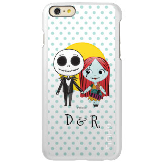 Nightmare Before Christmas | Jack & Sally Emoji Incipio Feather Shine iPhone 6 Plus Case