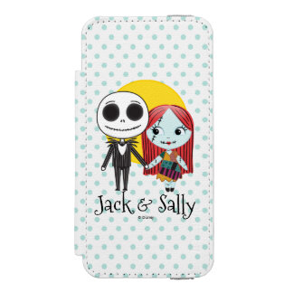 Nightmare Before Christmas | Jack & Sally Emoji iPhone SE/5/5s Wallet Case