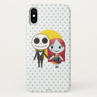 Nightmare Before Christmas | Jack & Sally Emoji iPhone X Case