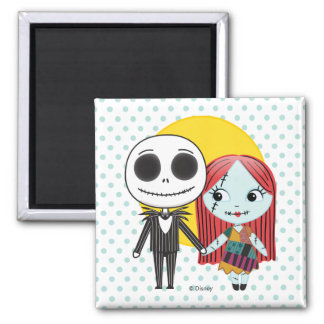 Nightmare Before Christmas | Jack & Sally Emoji Magnet