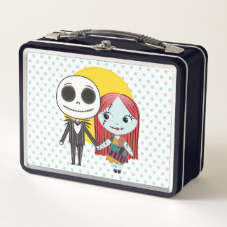 Nightmare Before Christmas | Jack & Sally Emoji Metal Lunch Box
