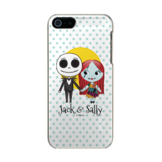 Nightmare Before Christmas | Jack & Sally Emoji Metallic Phone Case For iPhone SE/5/5s