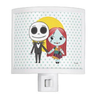 Nightmare Before Christmas | Jack & Sally Emoji Night Light