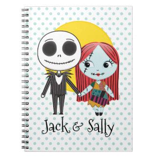 Nightmare Before Christmas   Jack & Sally Emoji Notebook