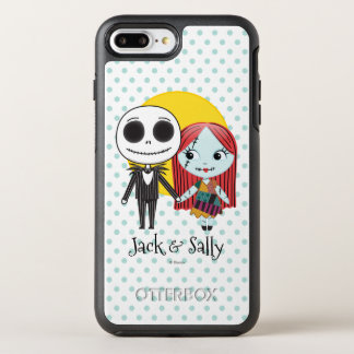 Nightmare Before Christmas | Jack & Sally Emoji OtterBox Symmetry iPhone 7 Plus Case