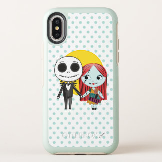 Nightmare Before Christmas | Jack & Sally Emoji OtterBox Symmetry iPhone X Case