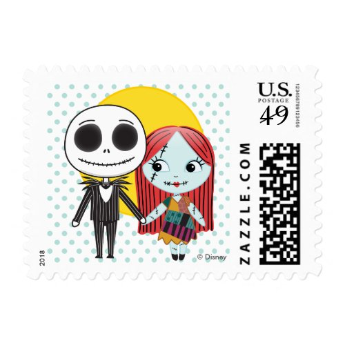 Nightmare Before Christmas | Jack & Sally Emoji Postage