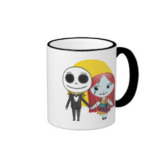 Nightmare Before Christmas | Jack & Sally Emoji Ringer Mug