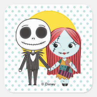 Nightmare Before Christmas | Jack & Sally Emoji Square Sticker