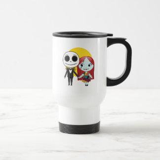 Nightmare Before Christmas | Jack & Sally Emoji Travel Mug