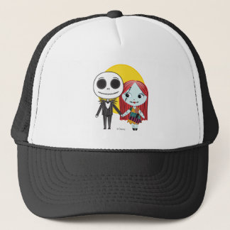 Nightmare Before Christmas | Jack & Sally Emoji Trucker Hat