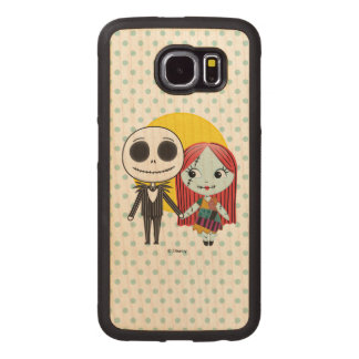 Nightmare Before Christmas | Jack & Sally Emoji Wood Phone Case