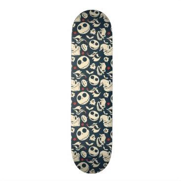 Disney Themed Nightmare Before Christmas | Oh What Joy - Pattern Skateboard