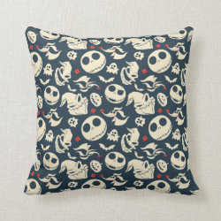 Cotton Throw Pillow with Disney Christmas Ornaments design