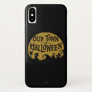 Nightmare Before Christmas | Our Town Of Halloween iPhone X Case