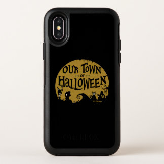 Nightmare Before Christmas | Our Town Of Halloween OtterBox Symmetry iPhone X Case