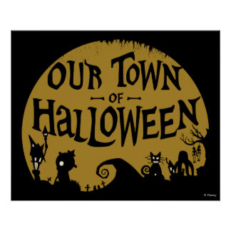 Nightmare Before Christmas | Our Town Of Halloween Poster