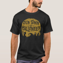 Men's Basic Dark T-Shirt with Disney Christmas Ornaments design