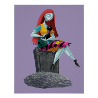 Nightmare Before Christmas | Sally & Cat Sitting Poster