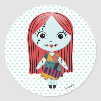 Nightmare Before Christmas | Sally Emoji Classic Round Sticker