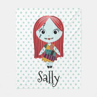 Nightmare Before Christmas | Sally Emoji Fleece Blanket
