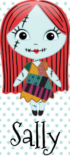 nightmare before christmas sally emoji holiday postcard