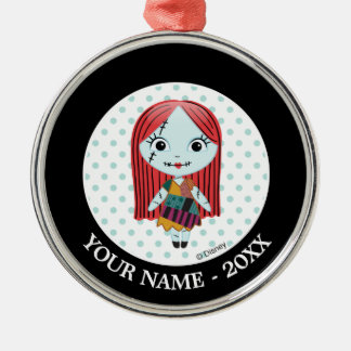 Nightmare Before Christmas | Sally Emoji Metal Ornament
