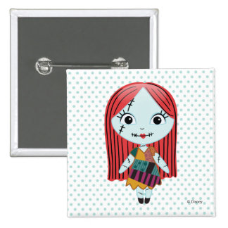 Nightmare Before Christmas | Sally Emoji Pinback Button