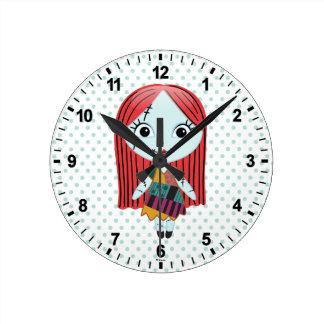Nightmare Before Christmas | Sally Emoji Round Clock