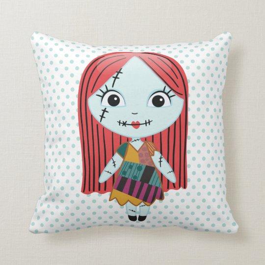 Nightmare Before Christmas Sally Emoji Throw Pillow