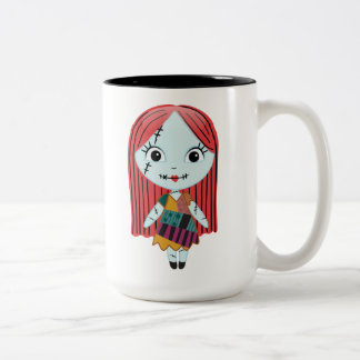 Nightmare Before Christmas | Sally Emoji Two-Tone Coffee Mug