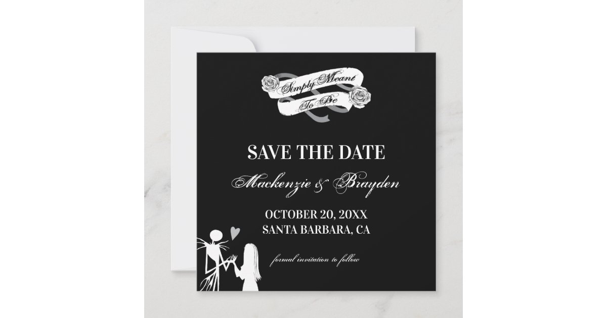 Nightmare Before Christmas Save The Date *DIGITAL*