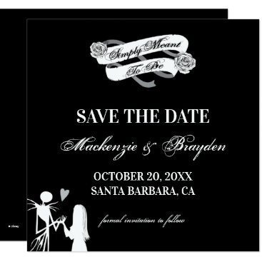 Disney Themed Nightmare Before Christmas - Save The Date Card