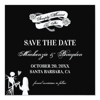 Nightmare Before Christmas - Save The Date Card