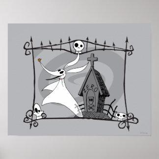Nightmare Before Christmas | Zero in Cemetery Poster