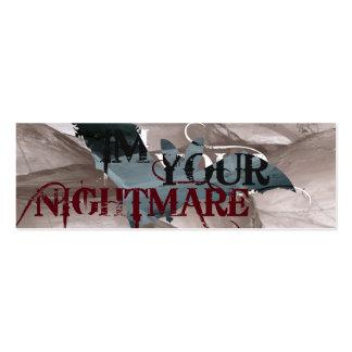 Nightmare Bookmark Business Cards