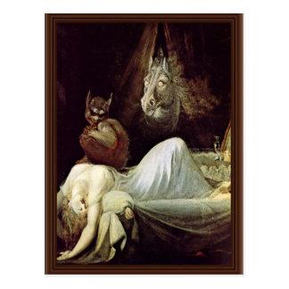 Nightmare By Füssli Johann Heinrich (Best Quality) Post Cards