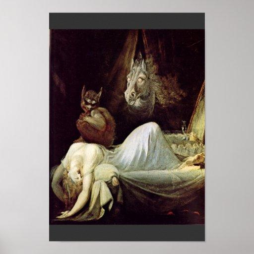 Nightmare By Füssli Johann Heinrich (Best Quality) Poster