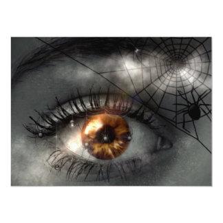 NIGHTMARE! (eye - spider - web) ~ 6.5x8.75 Paper Invitation Card