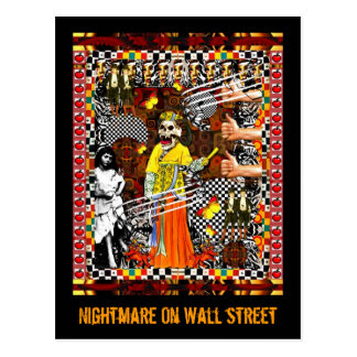 Nightmare On Wall Street Postcard