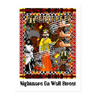 Nightmare On Wall Street Postcard