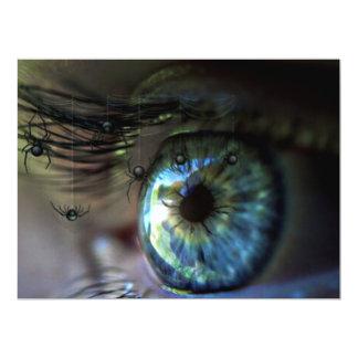 NIGHTMARE VIEW! (eye - spider dream) ~ 6.5x8.75 Paper Invitation Card