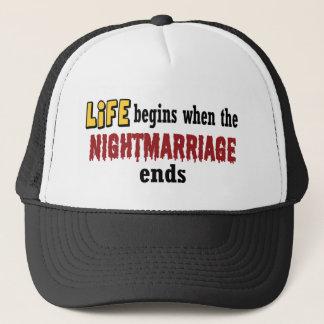 Nightmarriage Ends Trucker Hat
