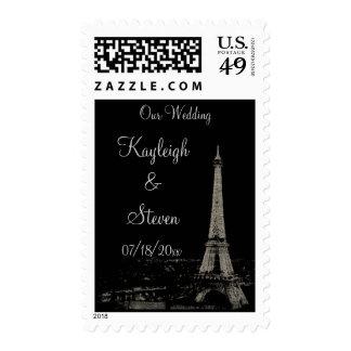 Nights in Paris Wedding Stamp