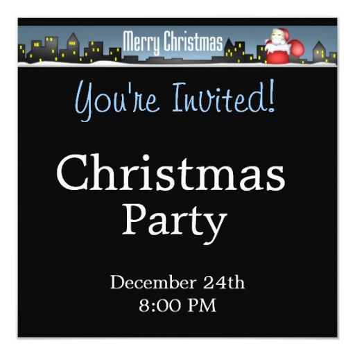 """Nights in The City - Christmas Party Invitation 5.25"""" Square Invitation Card"""