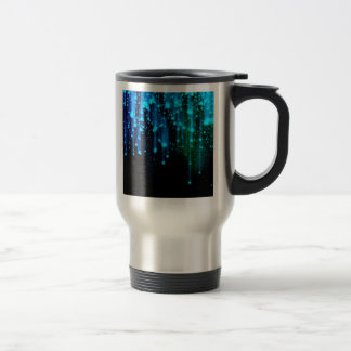 Nights Of Rain and Stars Meteor Shower Blue 15 Oz Stainless Steel Travel Mug